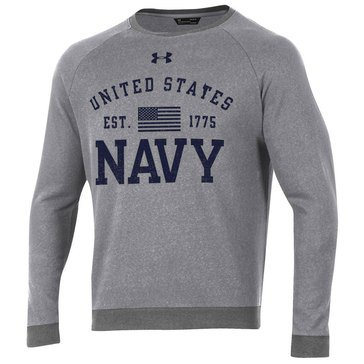 Under Armour Men's USN Sports Style Fleece Crew
