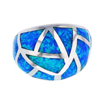 Bijoux Du Soleil Created Opal And Mosaic Ring, Sterling Silver