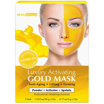 BioMiracle Luxury Activating Gold Mask 2 Step 5 Pack