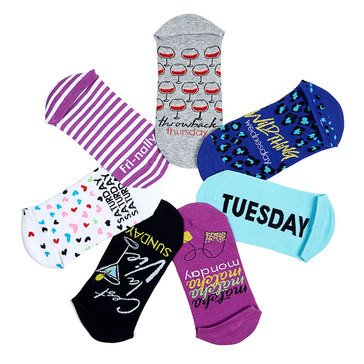 Hue Women's 7-Pack Sock of the Day Sport Socks