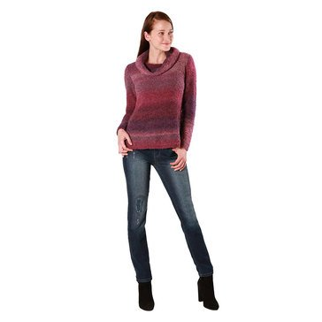 Skye's The Limit Women's Long Sleeve Ombre Cowl Neck Sweater
