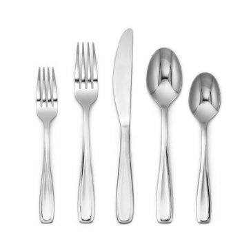 Cambridge Lynn Mirror 40-Piece Flatware Set with Marble Caddy