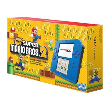 Nintendo 2DS Electric Blue 2 with New Super Mario Bros 2