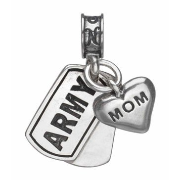 Nomades Army Dog Tag With Mom Charm