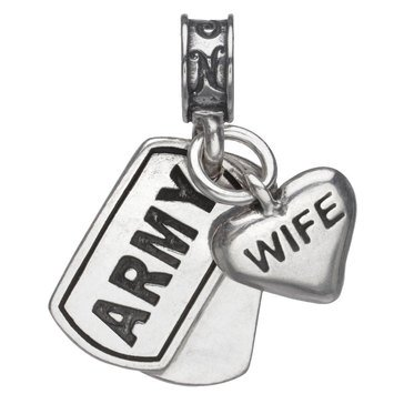 Nomades Army Dog Tag With Wife Charm