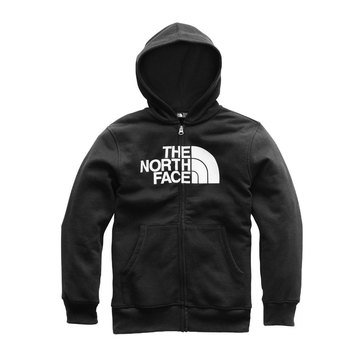 The North Face Boys' Logowear Full Zip Hoodie, Black