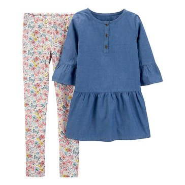 Carter's Little Girls' Floral Pant Set
