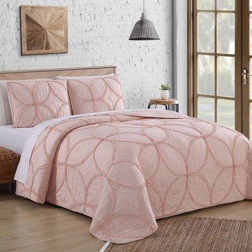 Addie Blush 3-Piece Quilt Set