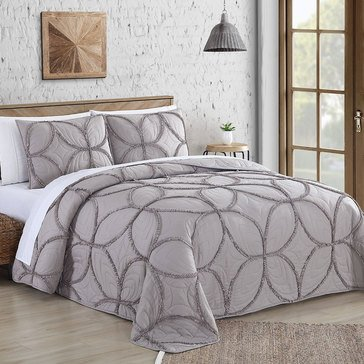 Addie Taupe 3-Piece Quilt Set
