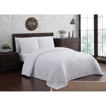 Asbury White 3-Piece Quilt Set