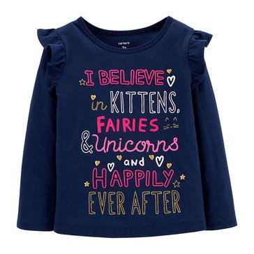 Carter's Toddler Girls' I Believe Kitten Tee
