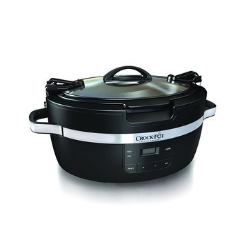 Crock-Pot 6-Quart ThermoShield Cook and Carry Slow Cooker (SCCPCT600-B)