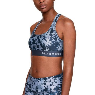 Under Armour Women's Mid Crossback Printed Sports Bra