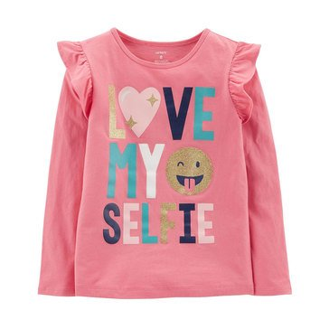 Carter's Little Girls' Love My Selfie Tee