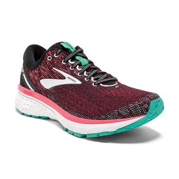 Brooks Ghost 11 Women's Running Shoe Black / Pink / Aqua