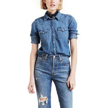 Levi's Women's Long Sleeve Ultimate Western Denim Shirt