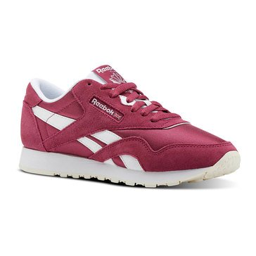 Reebok Classic Nylon Women's Lifestyle Running Shoes Twisted Berry / White / Chalk
