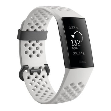 Fitbit Charge 3, Special Edition Graphite/White Silicone