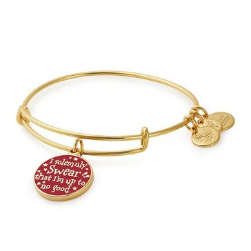 Alex and Ani Harry Potter Mischief Managed Expandable Wire Bangle, Gold Tone