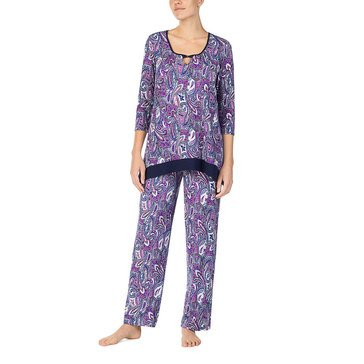 Ellen Tracy Women's Brushed Poly Spandex Sleep Top