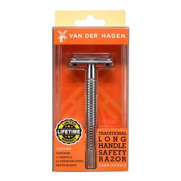 Van Der Hagen Chrome Long Handle Safety Razor