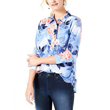 Charter Club Women's Floral Georgette Blouse