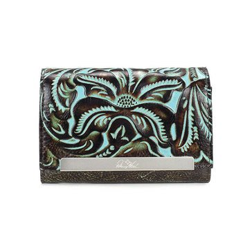 Patricia Nash Tooled Turquoise Cametti Wallet