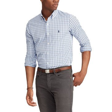 Polo Ralph Lauren Men's Long Sleeve Performance Twill Plaid Sport Shirt