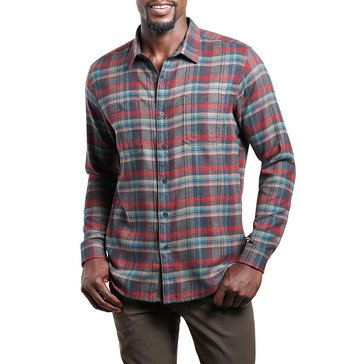 Kuhl Men's Fugitive Long Sleeve Plaid Tapered Woven Shirt