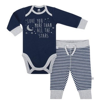 Just Born Baby Boys' Organic 2-Piece Pant Set