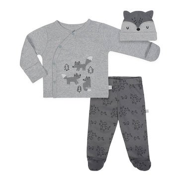 Just Born Baby Boys' Organic 3-Piece Take Me Home Set, Fox