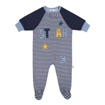 Just Born Baby Boys' Organic Zip Front Sleep 'N Play