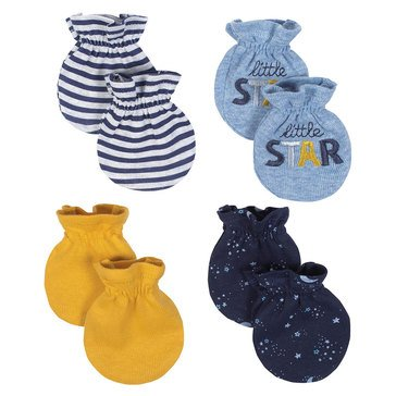 Just Born Baby Boys' Organic 4-Pack Mittens