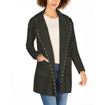 Style And Co Womens Studded 2 Pocket Hoodie Sweater
