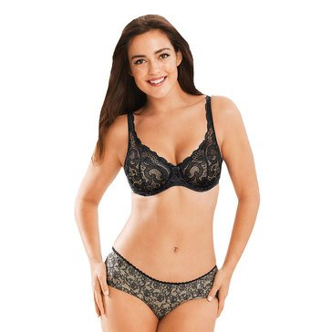 Playtex Women's Love My Curves Thin Foam Lace Underwire