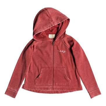 Roxy Little Girls' Look Happier Big Triangles Zip-Up Jacket