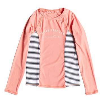 Roxy Big Girls' Tropi Sporty Long Sleeve Lycra Swim Set