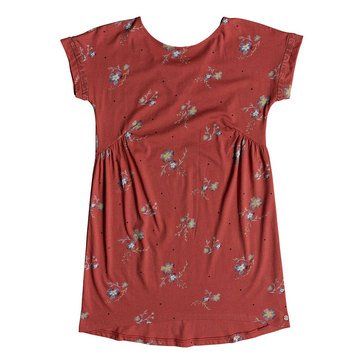 Roxy Big Girls' Dripping Rose Short Sleeve Dress