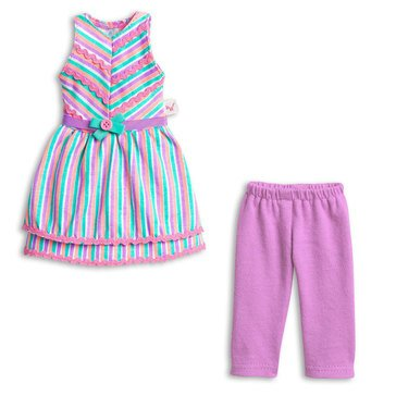 WellieWishers Ribbon Stripes Outfit