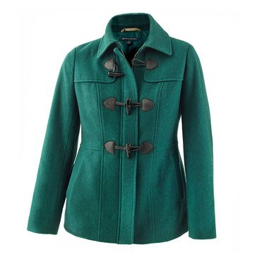Brooks Brothers Women's Melton Short Jacket With 3 Horn Closures