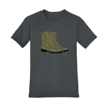 SheServed Women's Boot Too Short Sleeve Crew Tee