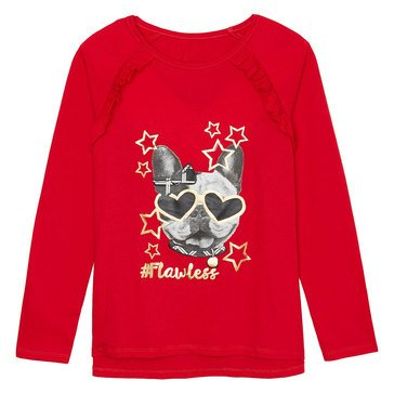 Yarn & Sea Big Girls' Long Sleeve Graphic Tee