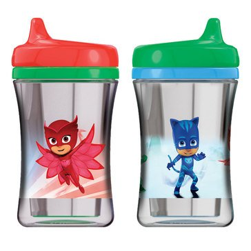 NUK PJ Masks Insulated Hard Spout 9oz Sippy Cup, 2-Pack Assorted
