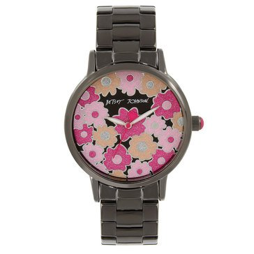 Betsey Johnson Women's Blackout Floral Watch, 40mm