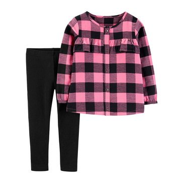Carter's Toddler Girls' Plaid Pant Set