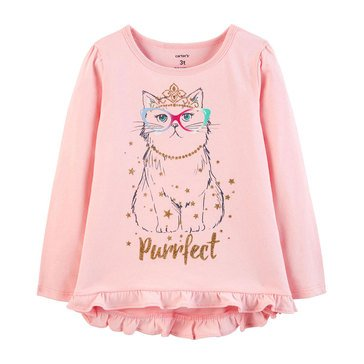 Carter's Toddler Girls' Cat Tee