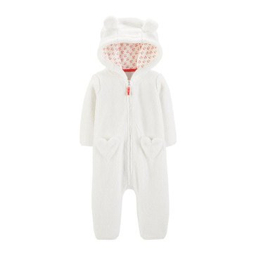 Carter's Baby Girls' Sherpa Heart Jumpsuit