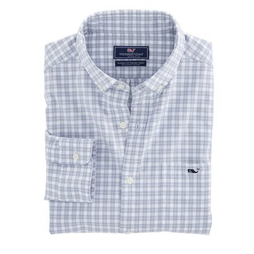 Vineyard Vines Men's Long Sleeve Brushed Plaid Checked Twill Sport Shirt