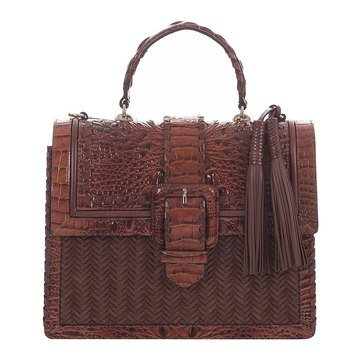 Brahmin Medium Francine Flap Closure Satchel Ross