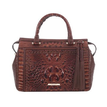 Brahmin Schooner Top Zip Satchel Ross